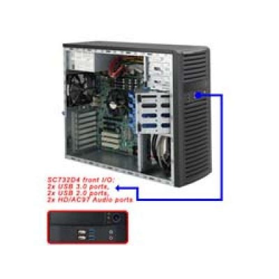 Supermicro SC732 D4-500B - Midi Tower - Erweitertes ATX